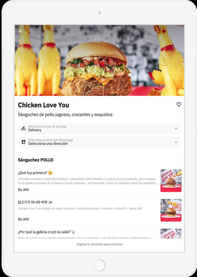 Restaurant Chicken Love You en Justo